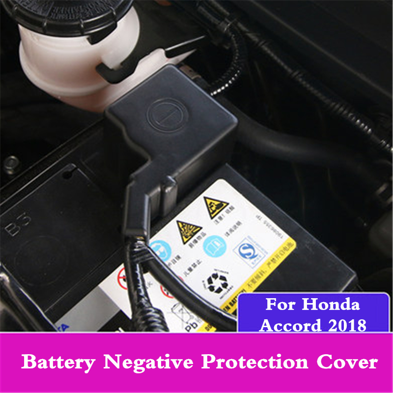 <font><b>Car</b></font> Negative Power <font><b>Battery</b></font> negative protection cover cap Anti-oxidation protective Frame Clip For <font><b>Honda</b></font> <font><b>Accord</b></font> 2018 2019 2020 image