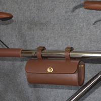 New Classic Bike Saddle Bag Artificial Leather Cycling Bags Vintage Bicycle Handlebar Bags Bike Accessory