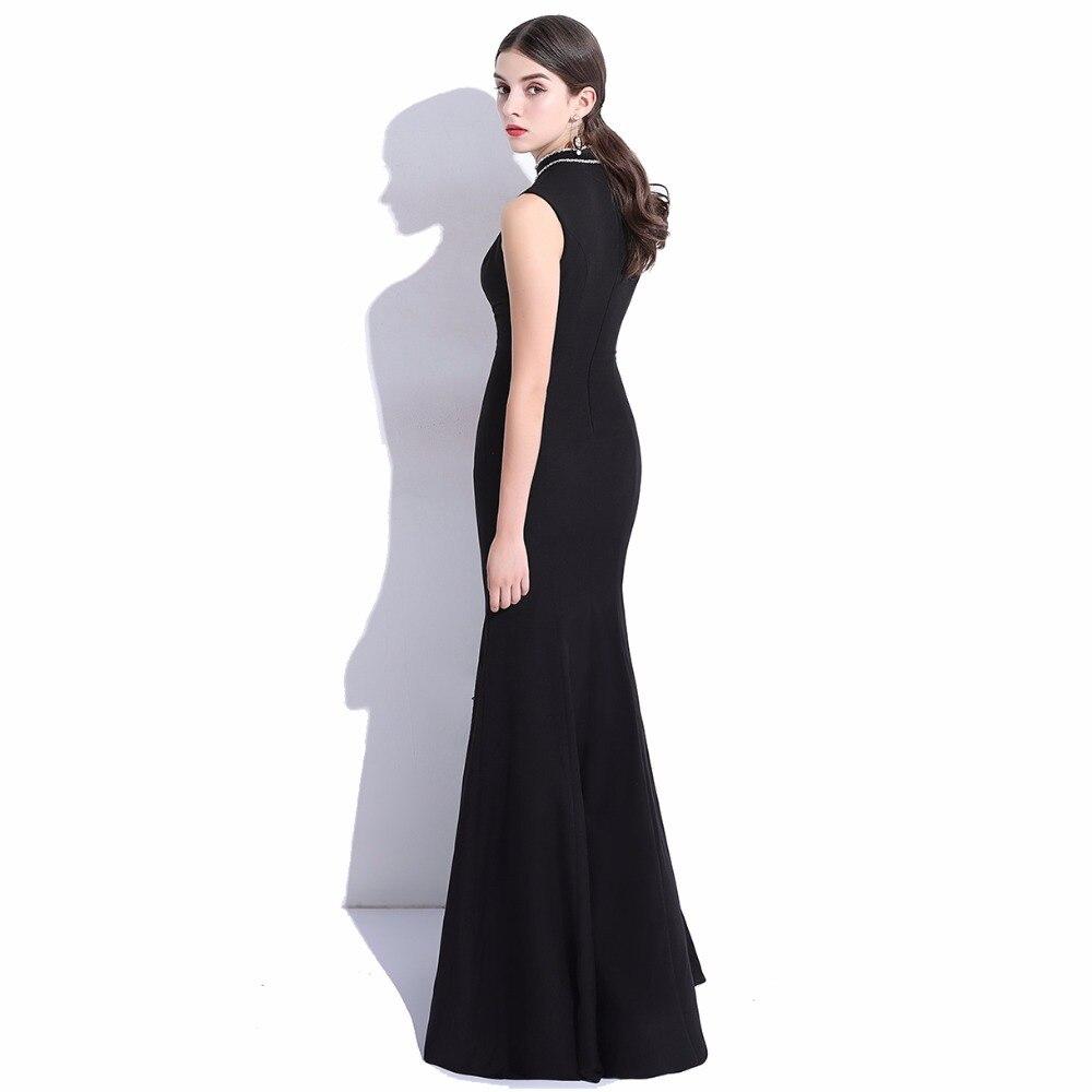 CEEWHY High Neck Mermaid Abendkleid Elegante Schwarze Abendkleider ...
