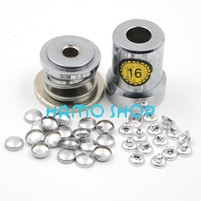 200Set/Lot Aluminum Round Fabric Covered Cloth Button With One Tool Metal Jewelry Accessories for Handmade DIY Free Shipping #16 цена