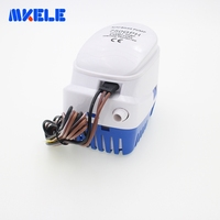 DC12V 24V Automatic Bilge 750GPH Auto Submersible Water Pump Electric Pump For Boats Accessories Marin