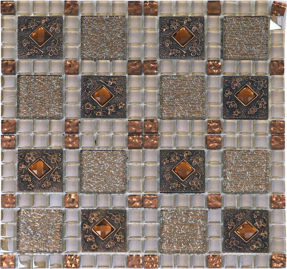 - Glass Resin Mosaic Tiles, Kitchen Backsplash Tiles,LSRNG02-in