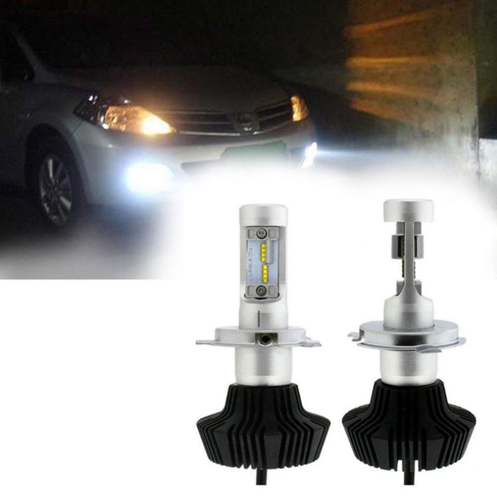 H4 LED Headlight Bulb 120W 9000LM 6500K H/L Dual Beam 9003 HB2 Headlight Conversion Kit Super Canbus Function No Error On Car