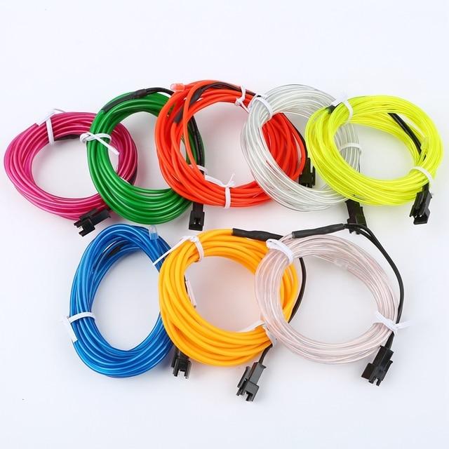 1 m/3 m/5 M 3V Flexible néon lueur EL câble bande câble bande LED néons chaussures vêtements voiture LED étanche bande nouveau 4