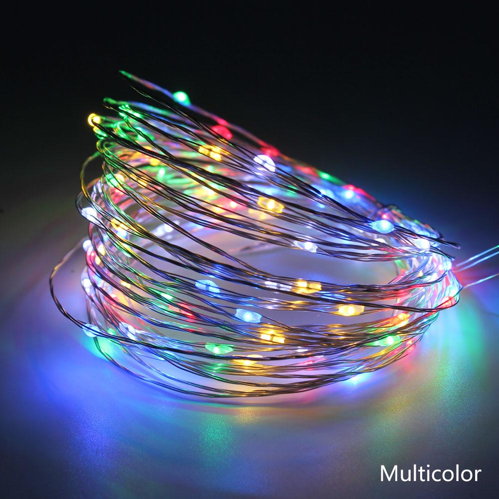 Image 4 - Led String Lights 10m 33ft 100leds 5V USB Powered Waterproof Copper Wire Garland Christmas Holiday Party decoration led strings-in LED Strips from Lights & Lighting