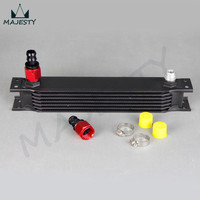UNIVERSAL 7 ROW AN 10AN UNIVERSAL ENGINE TRANSMISSION OIL COOLER With Fittings|transmission oil cooler -