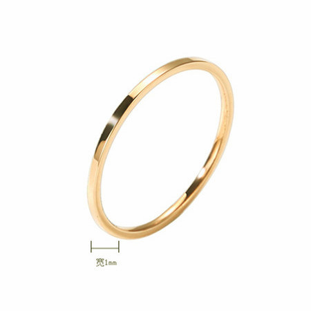 1MM New Punk Joint Brief Thin Titanium Finger Ring Rose Gold Diameter 1Pcs Wholesale Couples Tail Ring