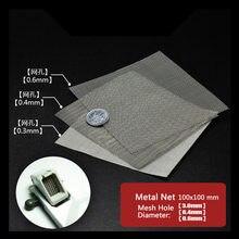 Modelo de Renovação Detalhes Difusor Aço Inoxidável Rede de Malha Gaze de Malha de Metal