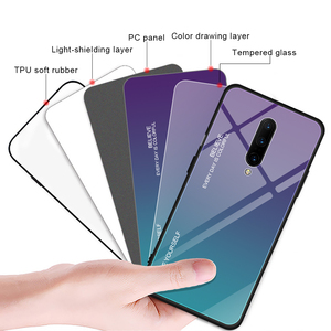Image 5 - KISSCASE Cho Oneplus 7 Pro Ốp Lưng Kính Cường Lực Sang Trọng Gradient Silicone Mềm Khung trong Cho Một Plus 7 Điện Thoại ốp lưng Funda