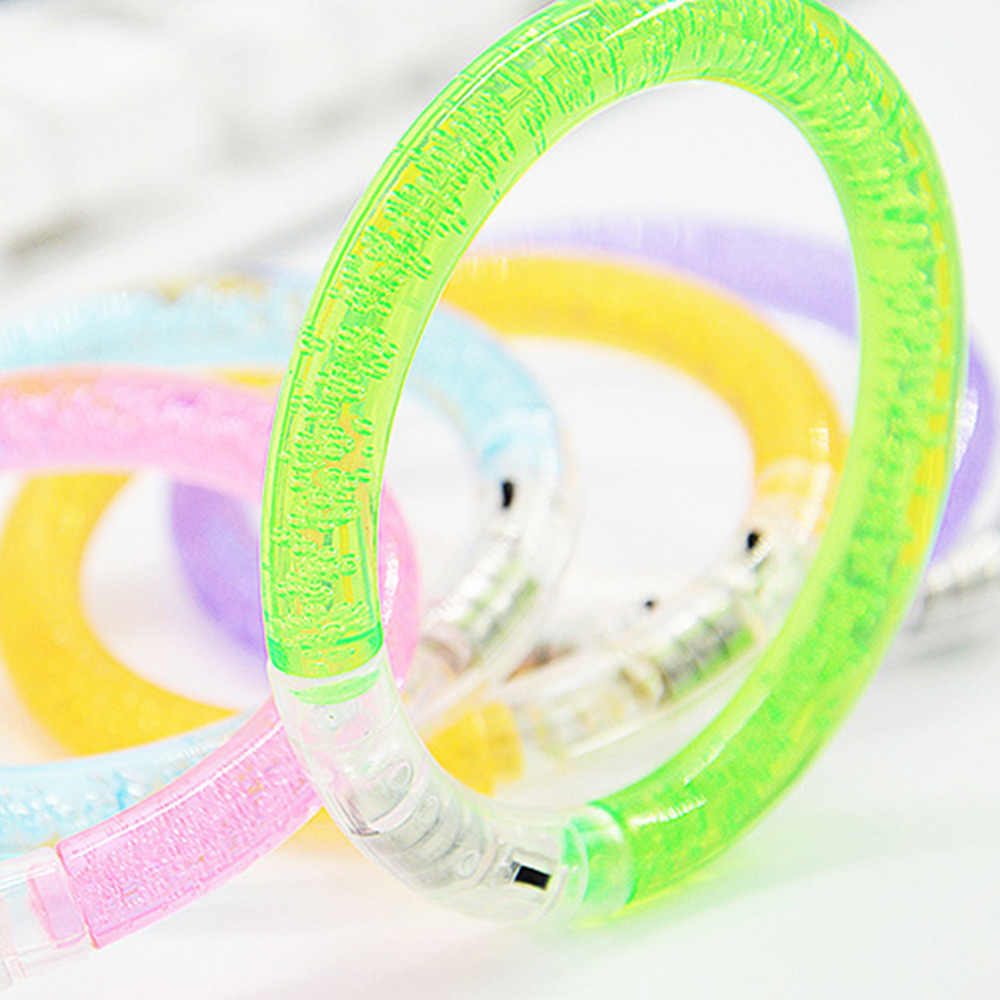 1 шт. флэш-браслет светодиодный светоизлучающий электронный вечерние детские игрушки цветной люминесцентный светящийся браслет цвет случайный