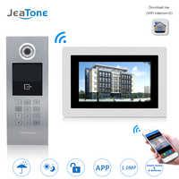 7 ''WIFI IP Video Tür Sprechanlage Drahtlose Tür Glocke Gebäude Security Access Control System Touchscreen Passwort/ IC Karte