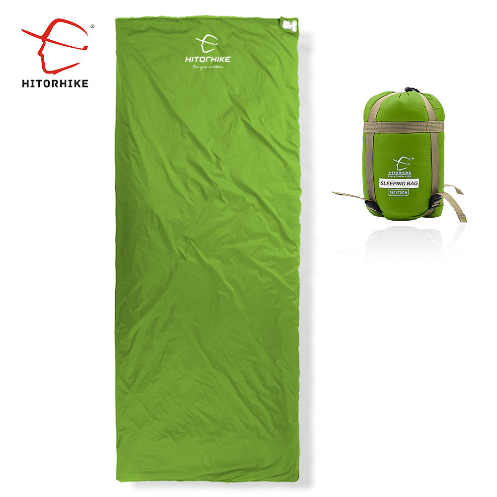 Hitorhike 75 x 190CM 미니 야외 초경량 봉투 수면 가방 캠핑 하이킹을위한 초소형 등산 정장 3 계절