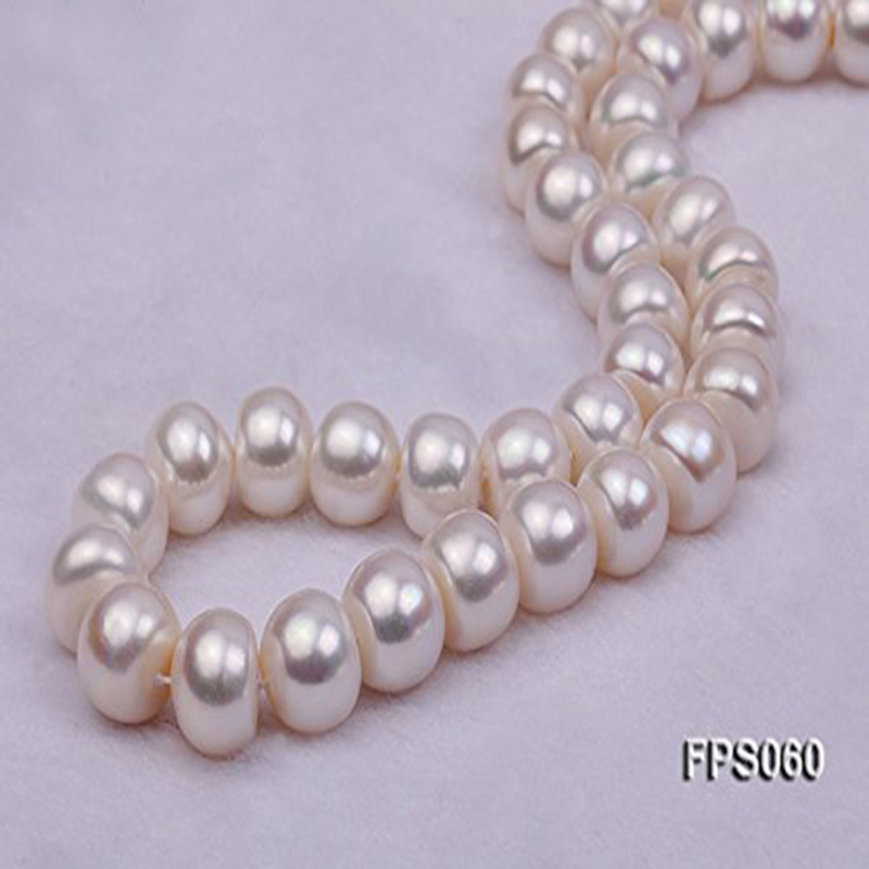 JYX Big Natural Pearl Necklace Round 12-13mm White Natural Freshwater Pearl Necklaces for women цена