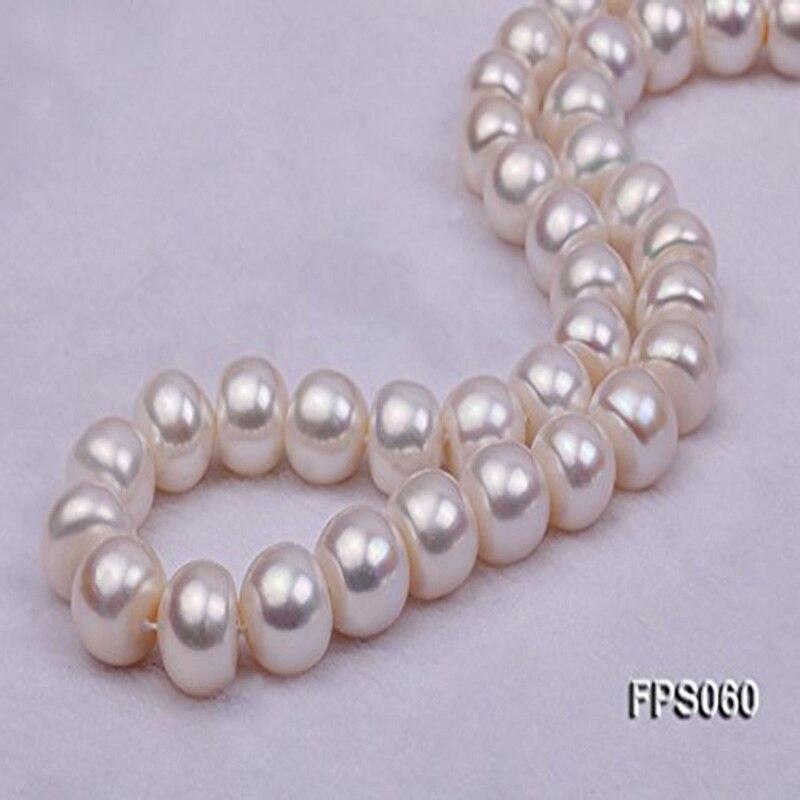 JYX grand collier de perles naturelles rondes 12-13mm colliers de perles deau douce naturelles blanches pour femmesJYX grand collier de perles naturelles rondes 12-13mm colliers de perles deau douce naturelles blanches pour femmes