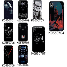 Star Wars Black Soft TPU Phone Case For iPhone 8 7 Plus XS Max XR Case Fundas Coque Back Cover For iPhone 6 6s X 5S SE Cases стоимость