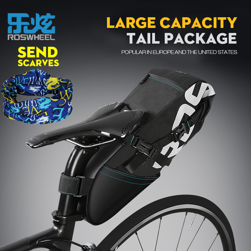 roswheel 131372  ROSWHEEL bike bag suitcase on bicycle saddle back bike waterproof ...