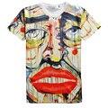 2017 roca de manga corta 3d camiseta de impresión harajuku letras de hip hop/rage comic/oreo cookies/camiseta inconformista hombres mujeres tops camisetas camisas