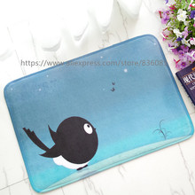 Front door mat bathroom mat/soft warm strong water absorption The birds carpet with anti-slip back