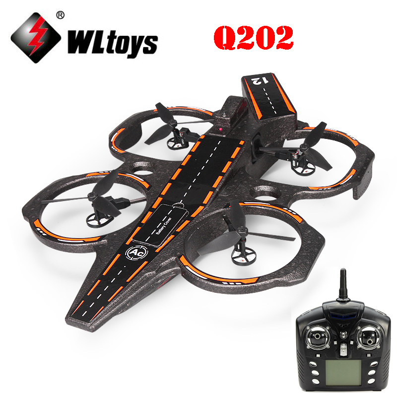 WLtoys Q202 4CH 6-Axis 2.4GHz Aircraft Carrier Shape Air Sea Amphibious RC Quadcopter RTF