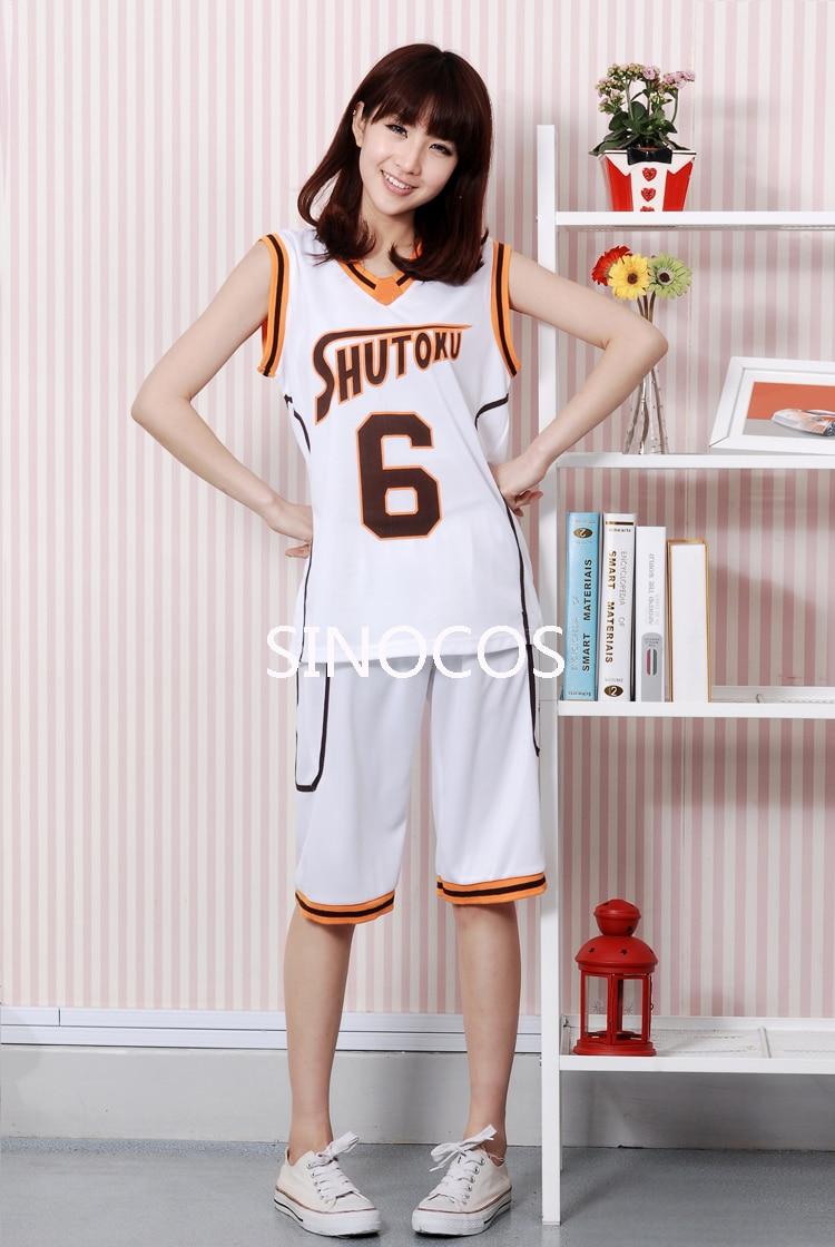 Kuroko no Basuke SHUTOKU No.6 Midorima Shintaro Basketball Jersey Cosplay Costume Men's Sports Wear Uniform Free Shipping