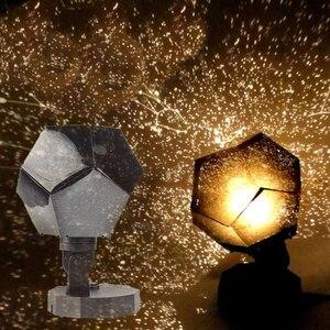 Image 2 - Celeste Star Della Proiezione del Cielo Cosmo Luci Notturne Lampada Del Proiettore Di notte Star Camera Da Letto Romantica Decorazione Di illuminazione Batteria AA