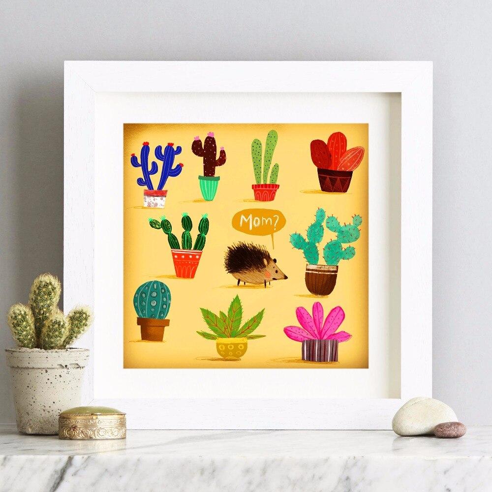 Beautiful Cactus Wall Art Sketch - Art & Wall Decor - hecatalog.info