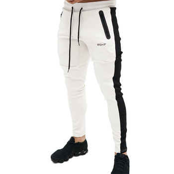 Casual Patchwork Pants Men Gym Fitness Trackpants Joggers Sweatpants Cotton Trousers Sport Training Pant Male Running Sportswear 1