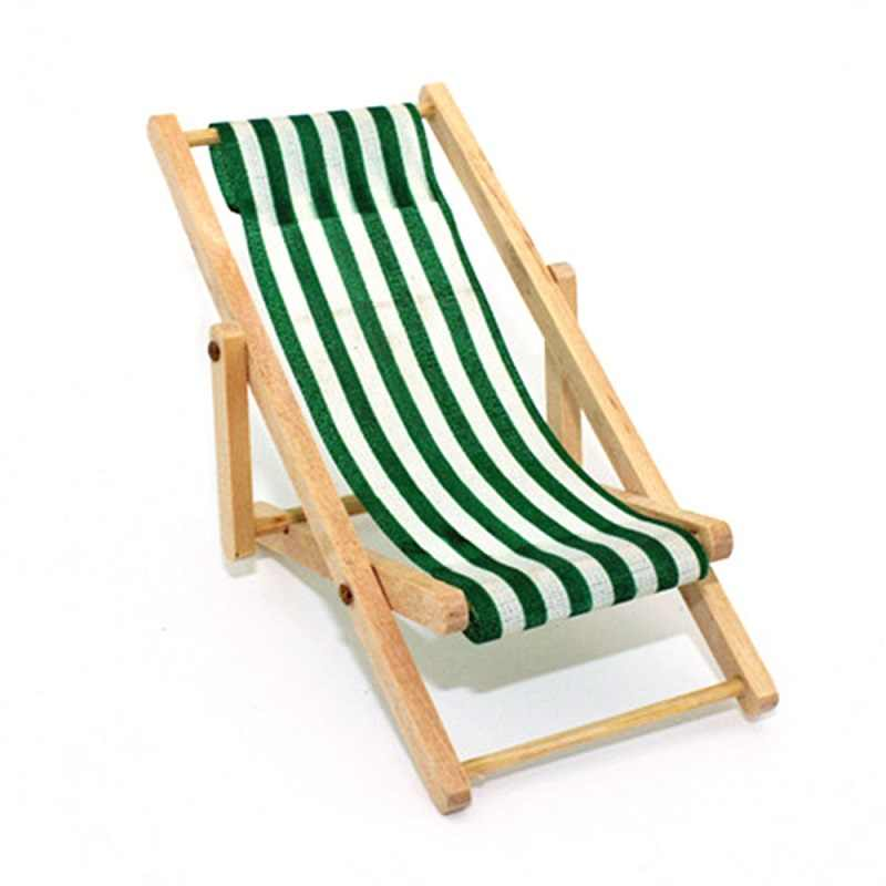 Super 1 12 Mini Stripe Foldable Wood Beach Chair Recliner Sunbathing Chair Chaise Lounge Chair Dollhouse Furniture For Barbie Toy Gmtry Best Dining Table And Chair Ideas Images Gmtryco