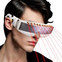 Kaigelin LED Stage Laser Glasses 5V Button Type Disco Laser Light For Stage Disco DJ KTV Party Glasses Light