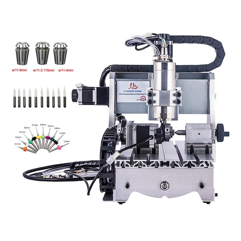 CNC machine 3020 300W spindle cnc router wood engraving machine cnc router 3020z d 300w spindle 3 or 4axis cnc cutting machine