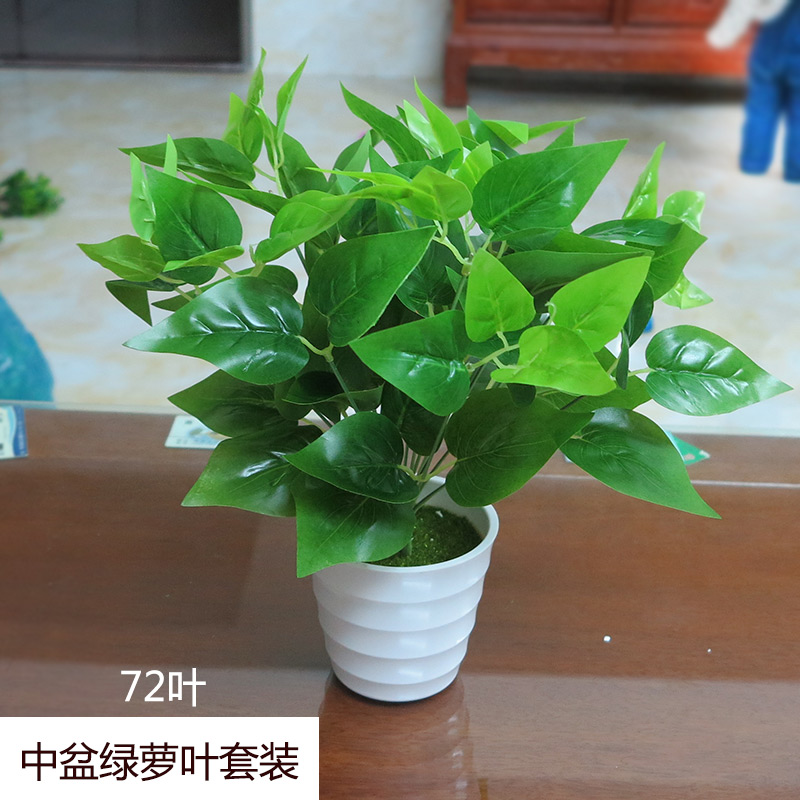 The Green Potted Indoor And Outdoor Decorative Plastic Flowers
