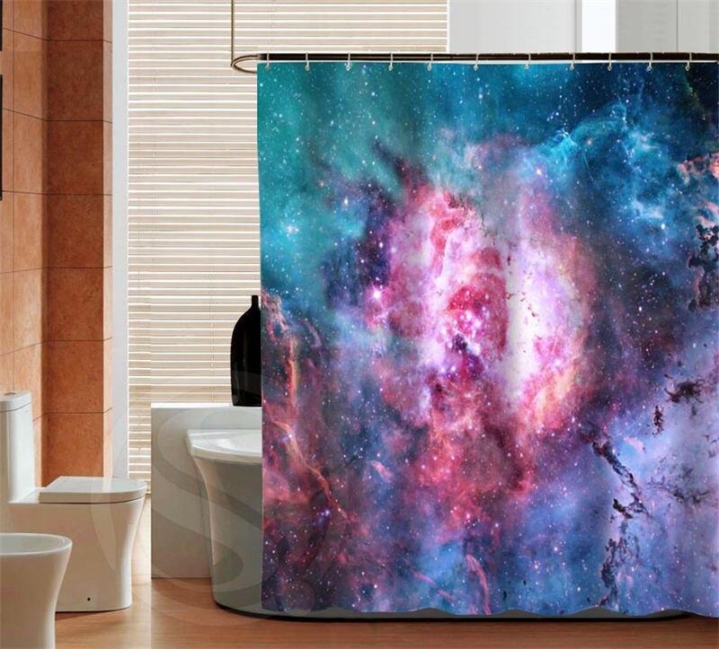 Outer Space Waterproof Custom Shower Curtain Latest Classical Best Bathroom Decor Bath screens