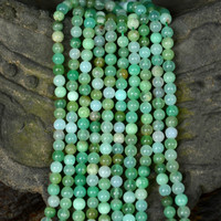 Chrysoprase round 5 7mm loose beads nature beads for making jewelry necklace 14inch FPPJ wholesale