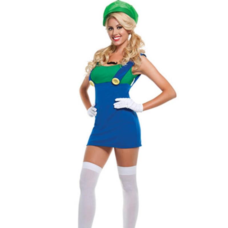 Movie Character Super Mario Bros Luigi Costume Cosplay Halloween Costume Brothers Plumber Fancy Dress Up Costume L1489 2 Luigi Costume Halloween Costumecostume