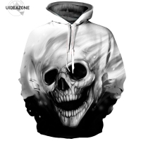 Skull Hoodie Hoodies Men Women Long Sleeve Autumn Winter Brand Hooded Sweatshirt Casual Pullover 3D Hoody