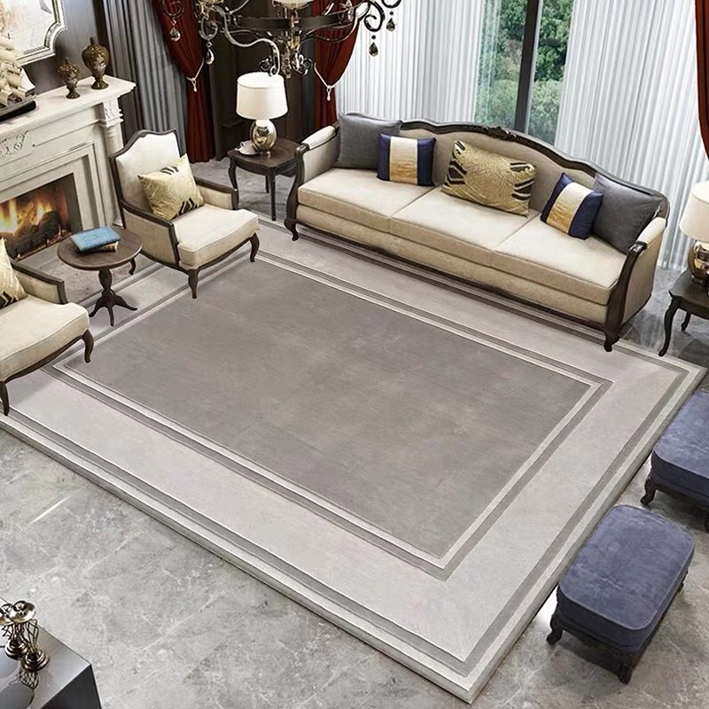 High end New Zealand Wool Carpet Sofa Living room Rug Can be customized barnd store logo