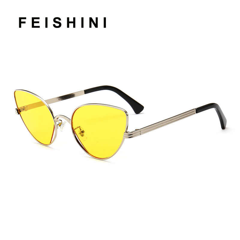 68761b8f6 ... Celebrity Cat Eye Sunglasses Ladies Gradient Pink Lens Fashion Light  Weight Mirror Sunglass For Women Vintage ...