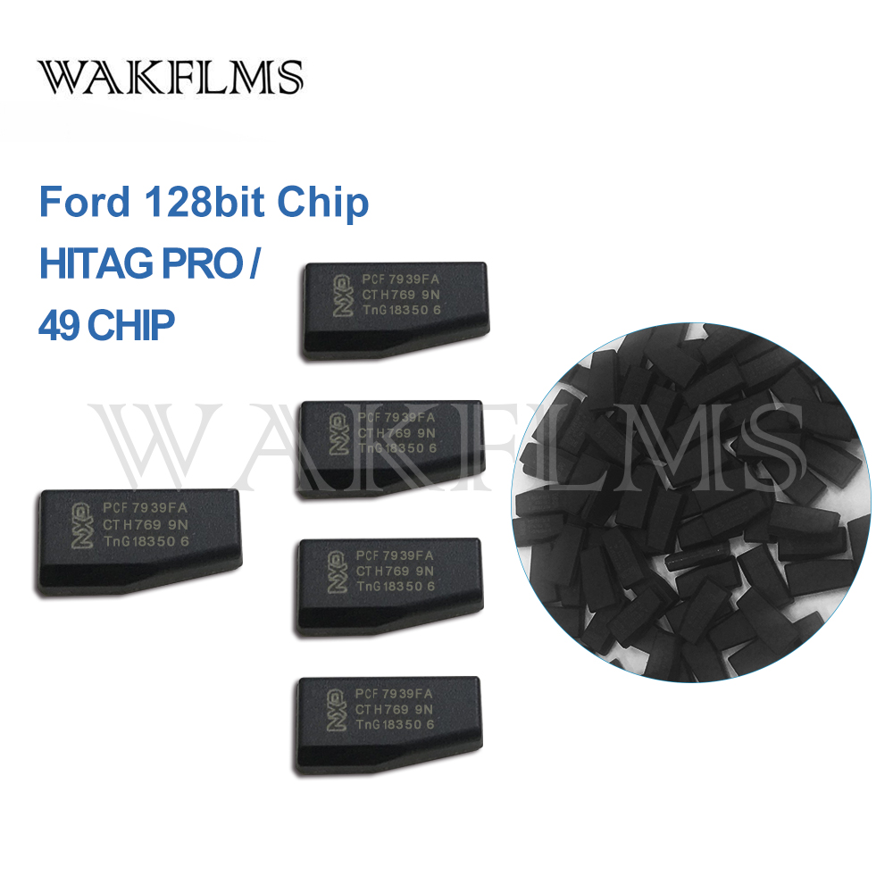 5cs lot High Quality Original NXP For Ford 128bit Chip Car Transponder HITAG PRO 49 Chip