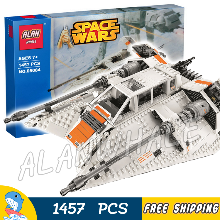 1457pcs Space Wars Snow Speeder Battle Ship Games Pilot Rebel 05084 Model Building Blocks Toys Bricks Compatible With Lego
