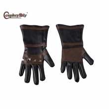 Cosplaydiy Game The Witcher 3: Wild Hunt Geralt of Rivia Gloves Adult Men Halloween Carnival Cosplay Accessories J5(China)
