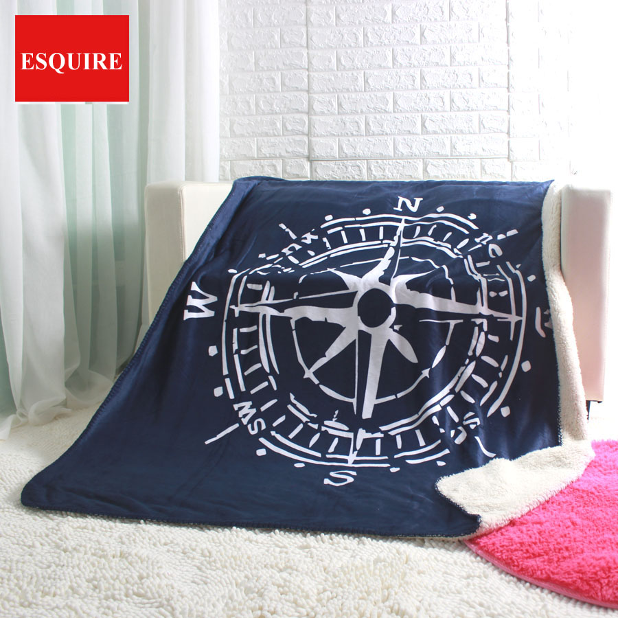 compass throw 50x60 130x160cm super soft box and needle sofa blankets for car tv travelling blanket
