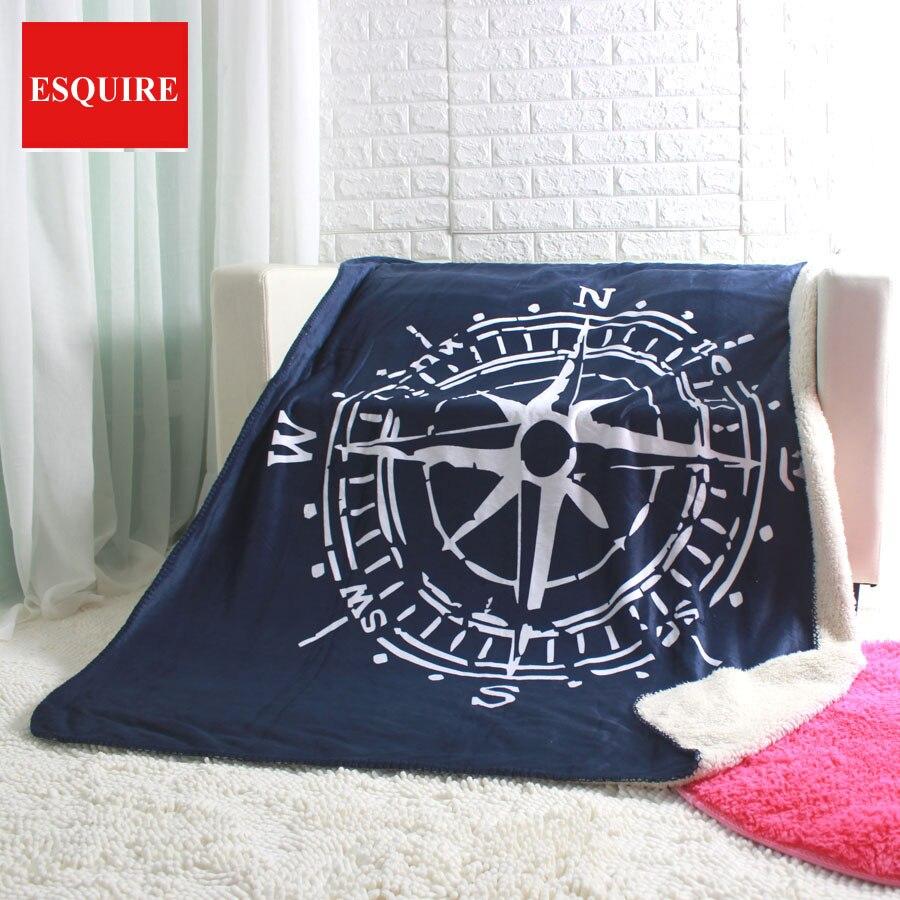 Компас бросить 50x60 130x160 см супер мягкие коробке и иглы диван одеяла для автомобиля ТВ путешествия одеяло
