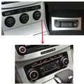 Para VW Passat B6 RCD510 RNS510 interruptor de conversão de ar condicionado ar condicionado unidade de controle da temperatura do ar pode ser exibida