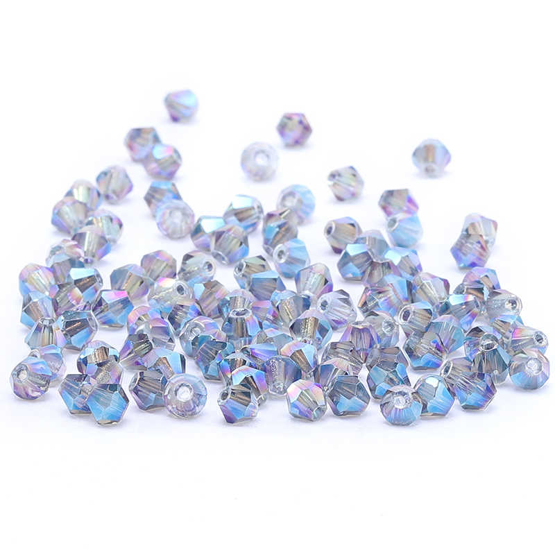 Violet Blue 4mm 100pc Austria Crystal Bicone Beads 5301 For Jewelry Making Earring Necklace Charms Handmade DIY  S-57