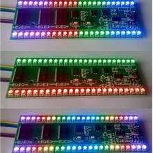 RGB MCU Adjustable Display Pattern 24 LED VU Level Indicator