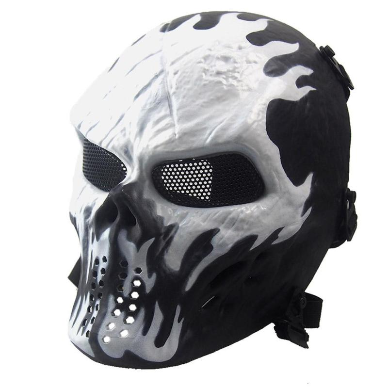 Airsoft Paintball Full Face Protection Skull Mask Army Games Outdoor Metal