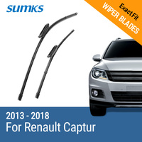 Free Shipping Framless Wiper Blade For Renault Captur Soft Rubber 24 13 Windshield Wiper Blade 2pcs