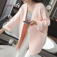 Spring women new sweater long knitted cardigan sweater coat female tide