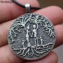 Семейное древо жизни Yggdrasi кулон отец мать дети отношения Wicca языческий амулет винтажное ожерелье Прямая поставка