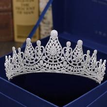 Fashion retro luxury popular crystal CZ zircon crown wedding bride dinner banquet dressing jewelry Beauty tiaras